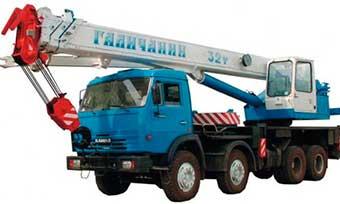 Аренда автокрана грузоподъемностью 32 тонны